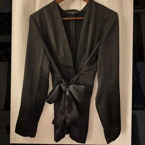 Black Satin Blazer by Dynamite